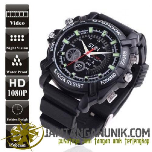 spy watch 8gb 12mp infrared night vision jam tangan kamera model g-shock