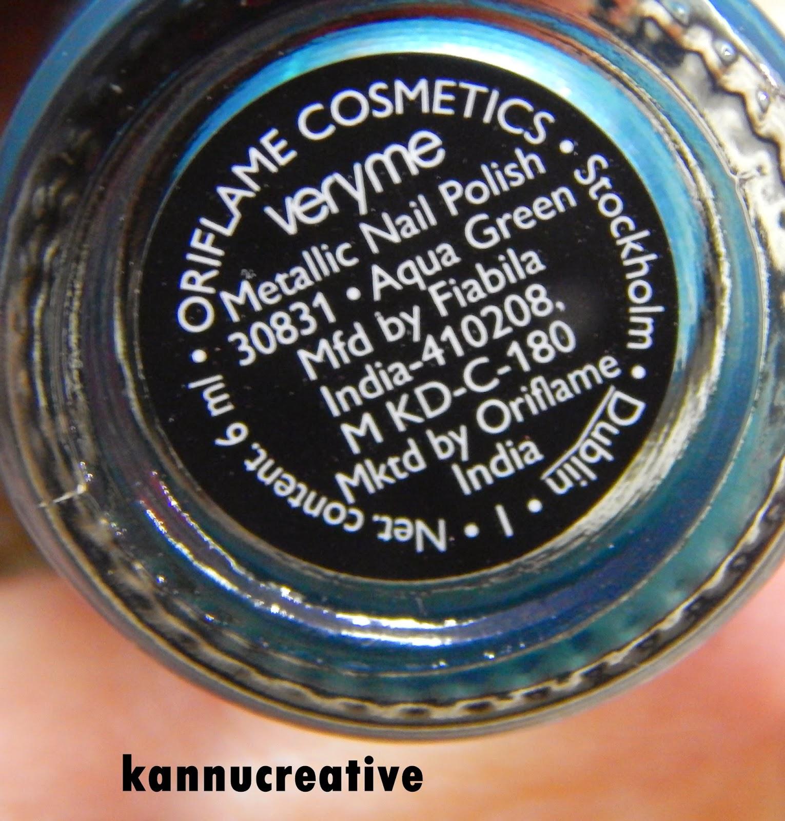 Very Me Metallic Nail Polish Shades: Her Creative Palace: Oriflame Very Me Metallic Nail Polish
