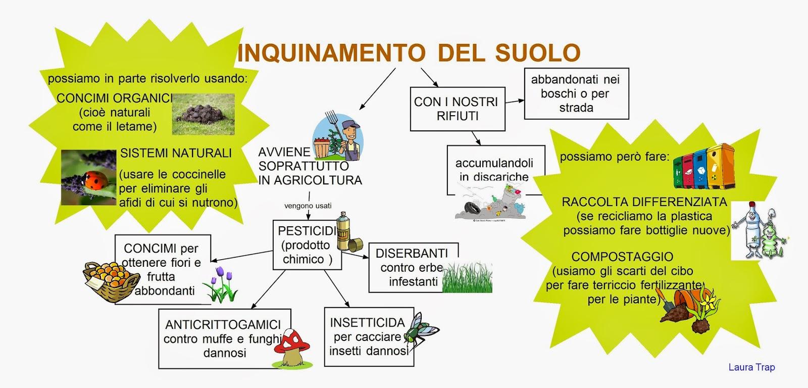 Inquinamento Del Suolo Mappa Concettuale Inquinamento Del Suolo Seconda