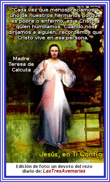 foto de jesus, frase de madre Teresa de calcuta