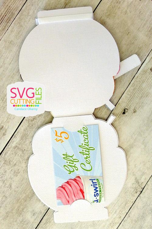Ice Cream Gift Card Holder Yummy Ice Cream Gift Card