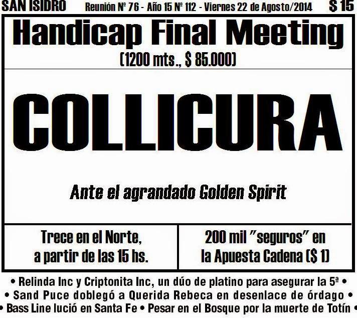 Todo A Ganador - 22/08 - Hipódromo de San Isidro - Handicap Final Meeting