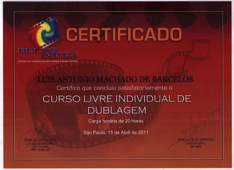 CURSO DE DUBLAGEM REALIZADO EM SÃO PAULO, EM ABRIL DE 2011