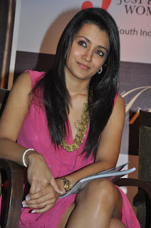 Trisha Spotted in a Short Gown Sitting at JFW 5th Anniversary Spicy Trisha Cute Pics
