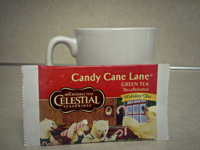 Celestial Seasonings Candy Cane Lane Decaf Green Tea