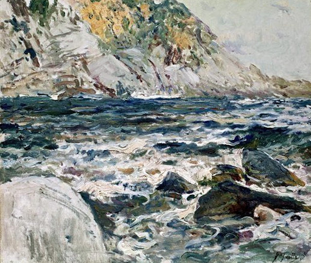 Mar revuelto, Joaquín Sorolla Bastida, pintor español, Impresionismo Valenciano