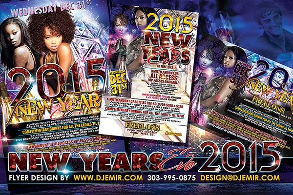Freelon's New Year's Eve 2015 Party Flyer Design