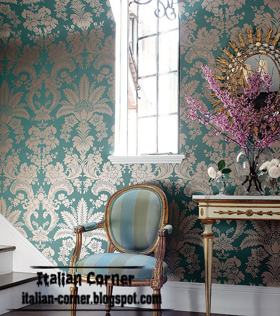 Textured Wall Coverings : Italy textured wall coverings floral covering