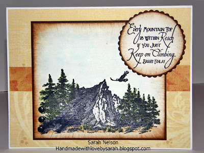 "ODBD Customer Card of the Day Sarah Nelson ""Keep Climbing"" set"