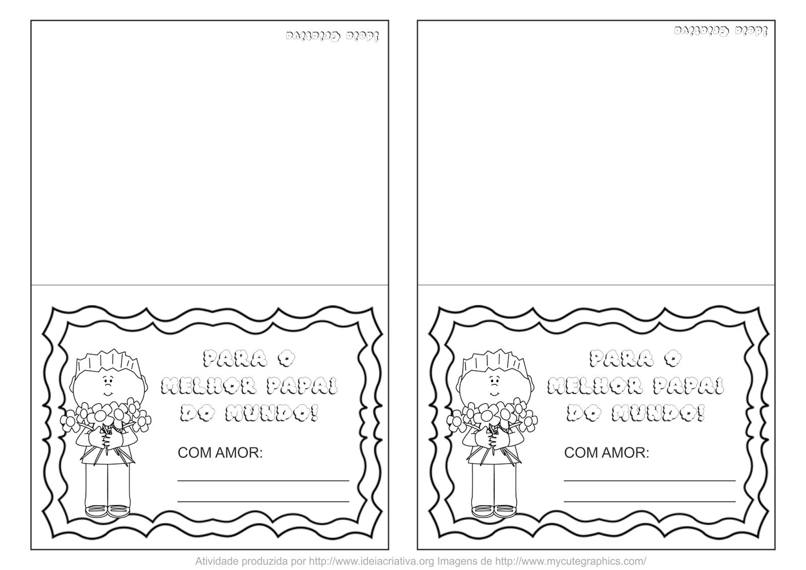 Cartão Dia dos Pais imprimir