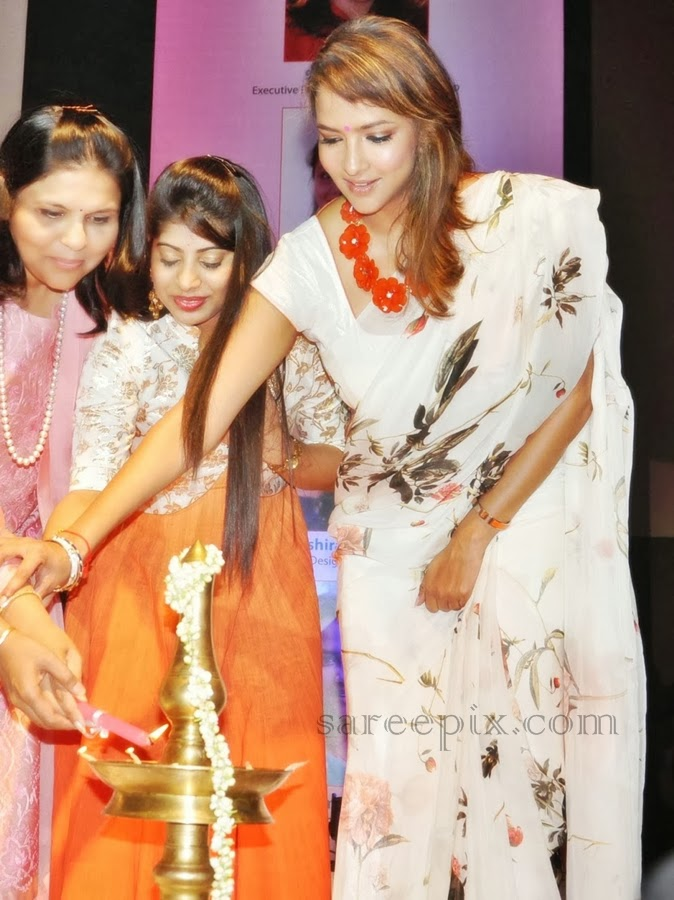 Actress Lakshmi manchu in printed saree