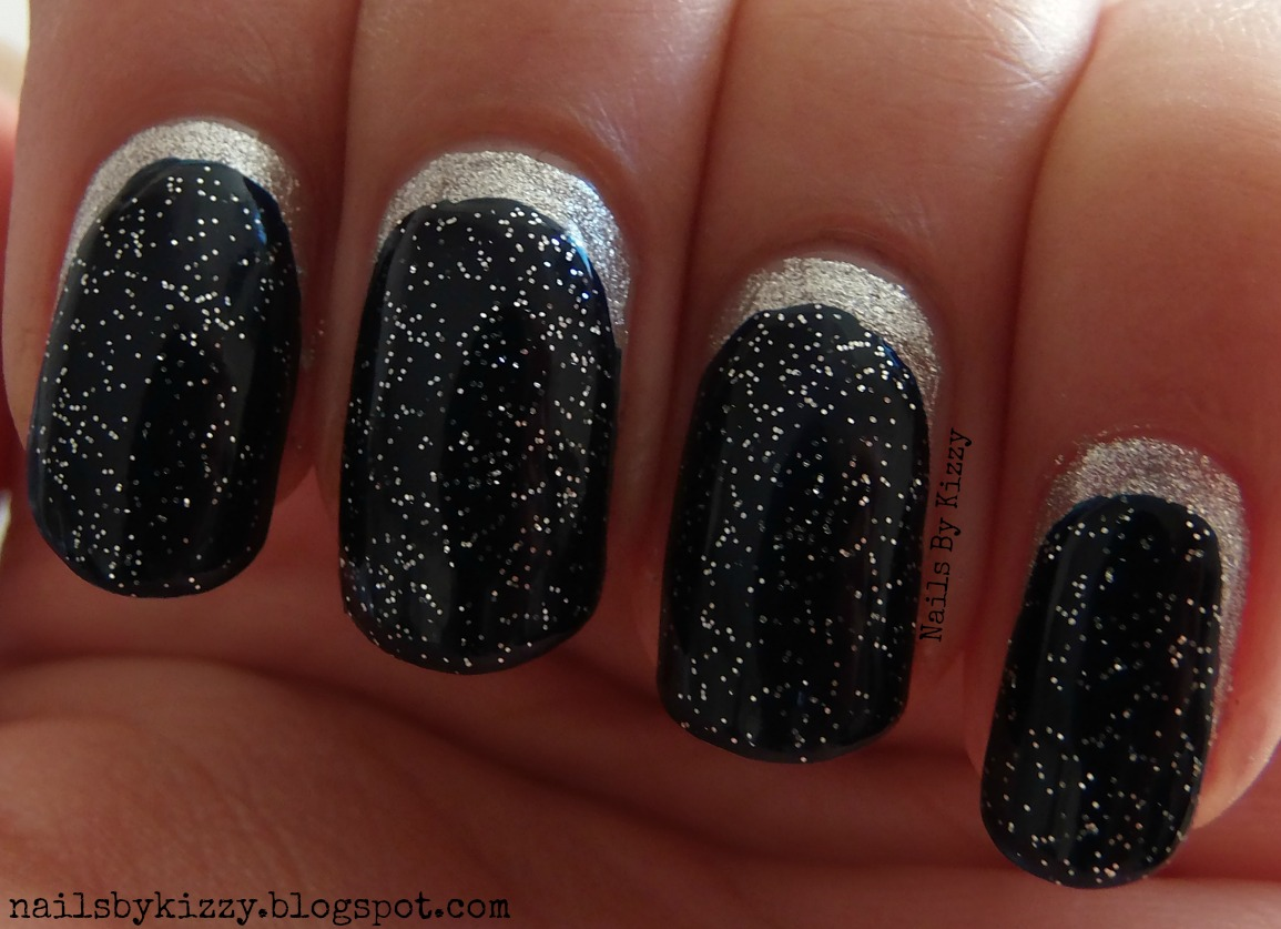 Nails By Kizzy Glittery Crescent Moon Nails