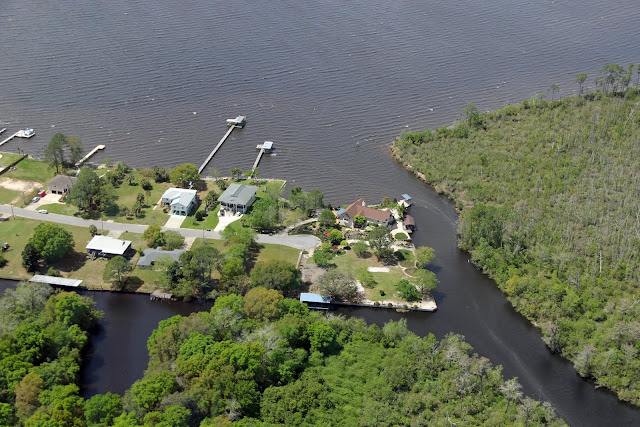 Aerial tour of Pensacola, FL  Waterfront homes