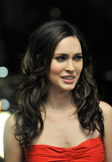 Megan Fox Long Brunette Curly Hairstyle