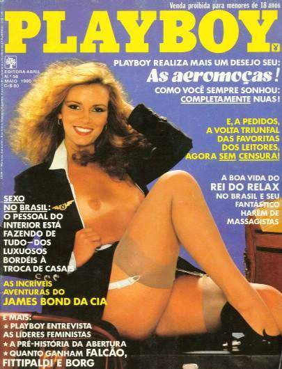 Confira as fotos das Aeromoças, capa da Playboy de maio de 1980!