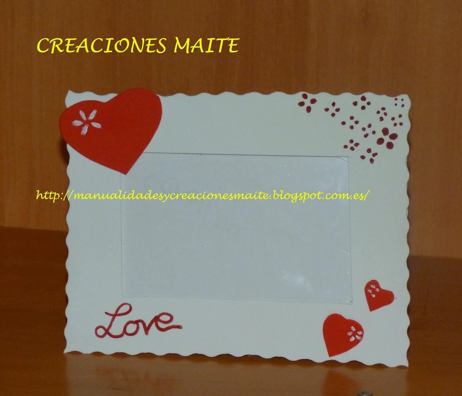 Fofuchas manualidades y creaciones maite enero 2014 - Marcos de fotos manualidades ...