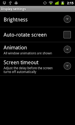 Start Display Setting, start activity with Settings.ACTION_DISPLAY_SETTINGS