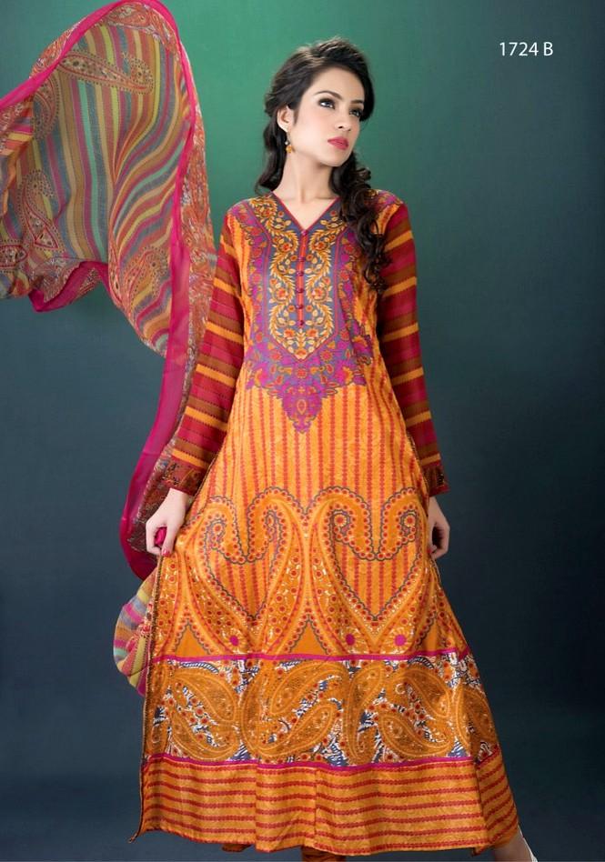 Hajiba de chiffon by dawood lawn double shade lawn for Bano market faisalabad dresses