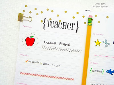 SRM Stickers Blog - Teacher Planner by Angi - #planner #teacher #september #quickcard #stickers #calendarcompanion #stickerstitches