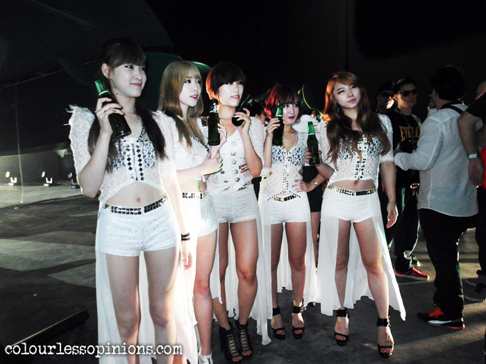 Korean dance group Sweety at Carlsberg Where's The Party 2013 (WTP IV) in Malaysia