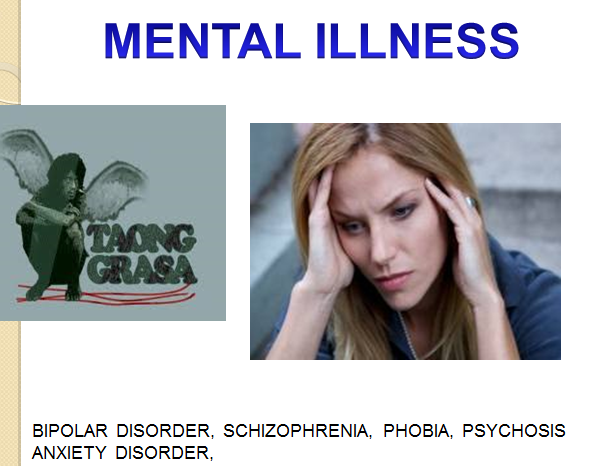 the different types of mental disorder
