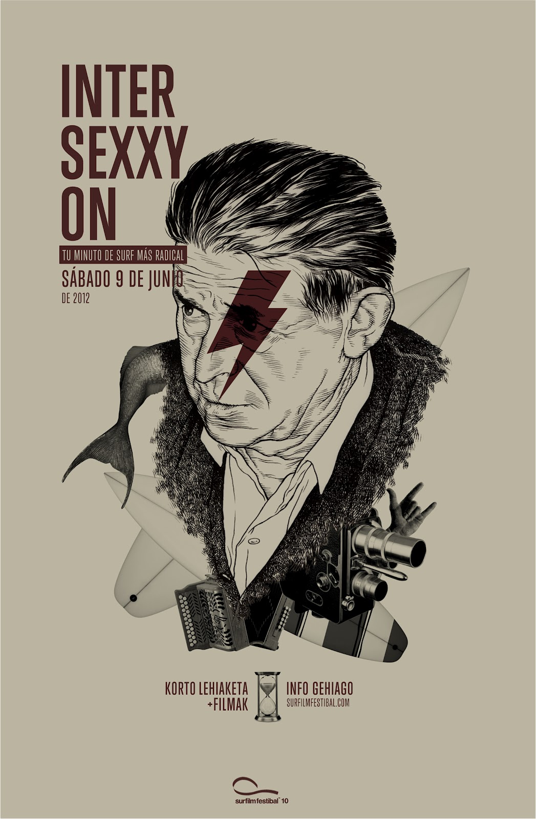 Cartel del concurso Inter Sexxy On del Surfilm Festibal 2012