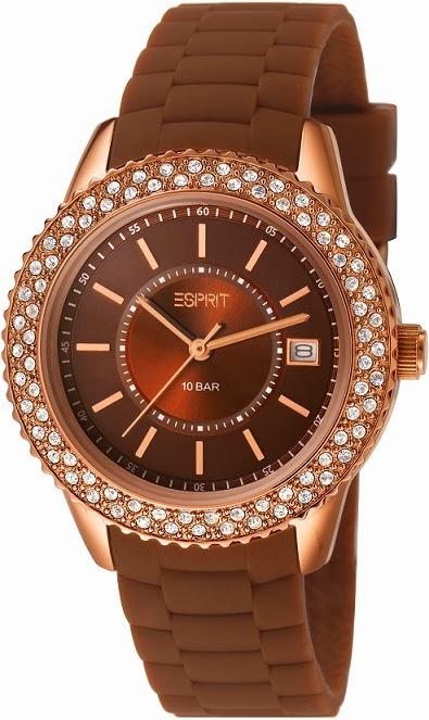 Esprit Timewear Marin Glints Brown: Price INR 7,995