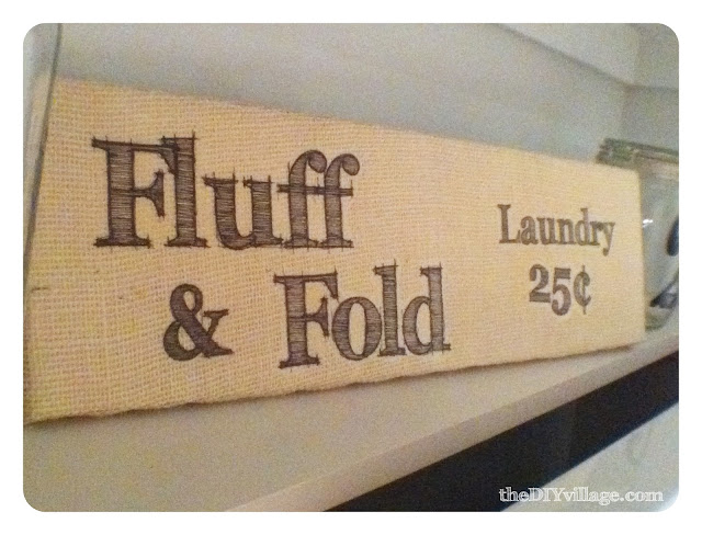 Burlap Laundry Room Sign