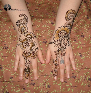 NORTH INDIAN MEHANDI DESIGNS