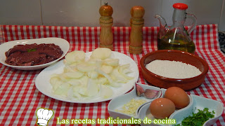 receta hígado de ternera rebozado con cebolla