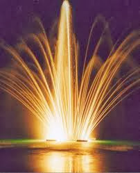 Park Lighting Based Pond Fountain