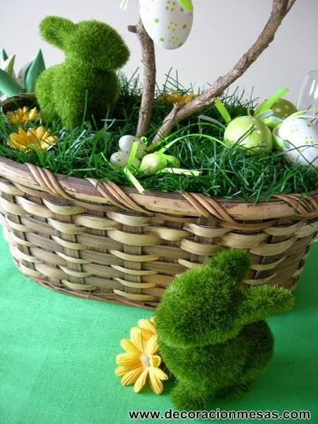 decoracion mesa pascua detalle centro mesa