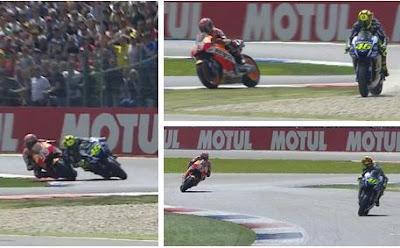 Rossi Menangi GP Assen Setelah Dicolek Marquez