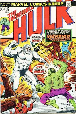 Incredible Hulk #162, the Wendigo
