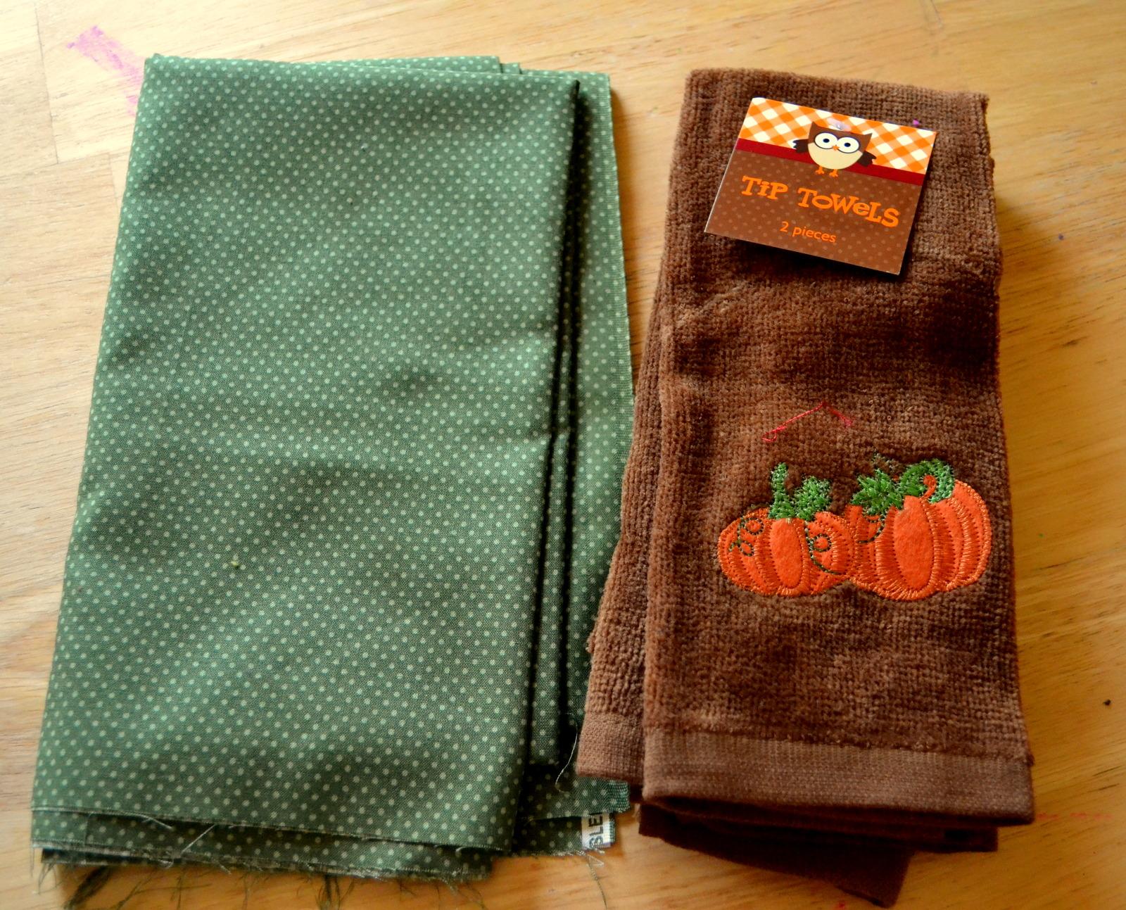 Thricethespice hanging dish towel tutorial - Hanging kitchen towel tutorial ...