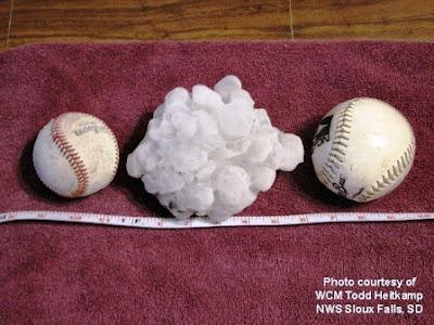 Granizo gigante giant hail