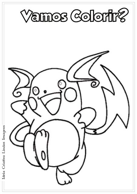 Pokemon Magneton para colorir