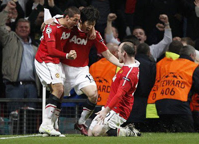 Manchester United Champions League park hernandez rooney