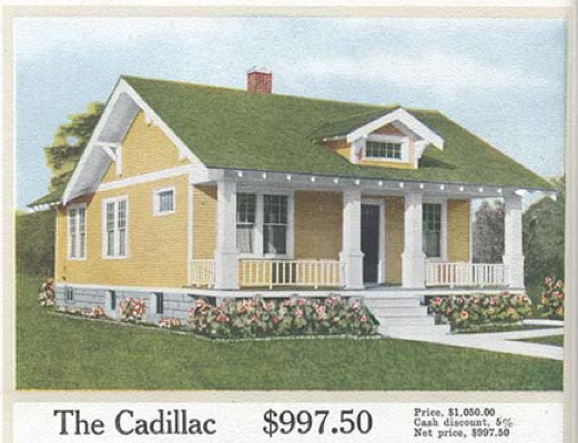 Laurelhurst craftsman bungalow aladdin kit homes for Styles of homes built in 1900