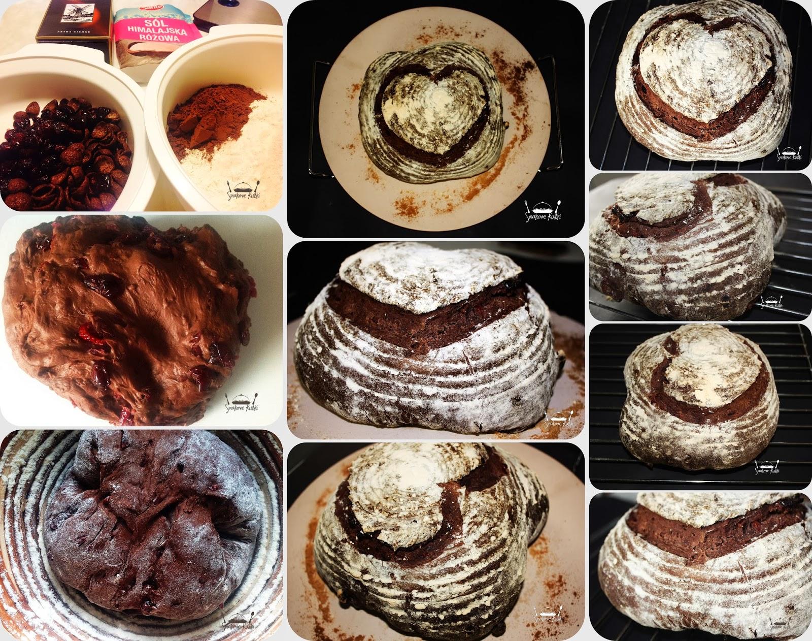 Chleb z czekoladą i rodzynkami  na zakwasie Smakowe Kubki