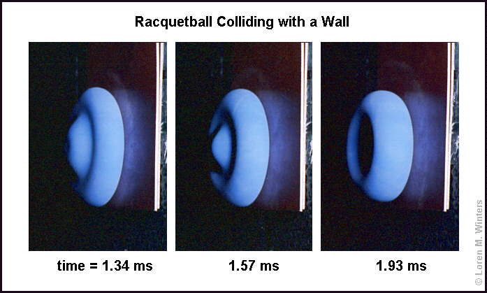 Btw This Is What A Racquetball Looks Like When It Is Hits The Wall During Normal Play Its Kind Of Neat Give You Some Idea Into The Design And Show You
