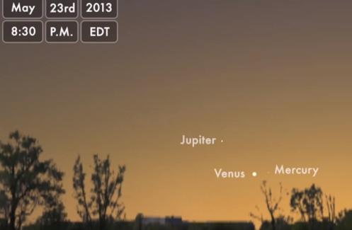 Os Planetas se Alinham no Céu domingo, 26/05/2013 Os+Planetas+se+Alinham+no+C%C3%A9u+no+Domingo+em+26+de+Maio+de+2013_497x325