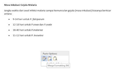 Merge Formatting (M)