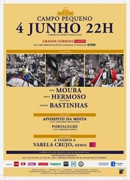 CAMPO PEQUENO(LISBOA) 04-06-2015. PABLO HERMOSO LA PRIMERA CORRIDA EN PORTUGAL.