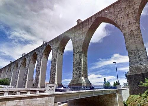 Aguas Livres aqueduct, Lisbon, Portugal.