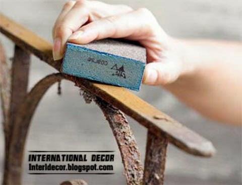 refresh bedside and headboard, repair old headboard iron