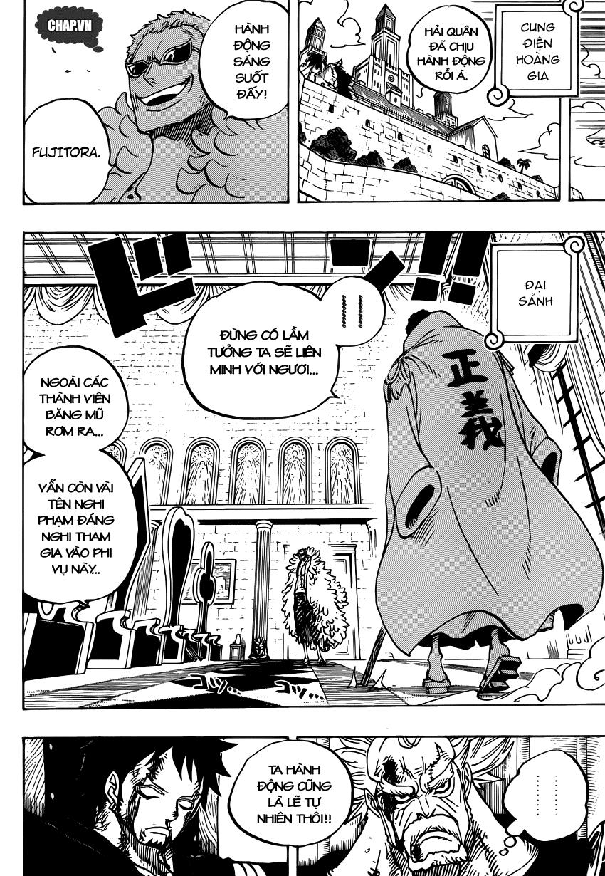 One Piece Chapter 735: Ý định của Fujitora 014