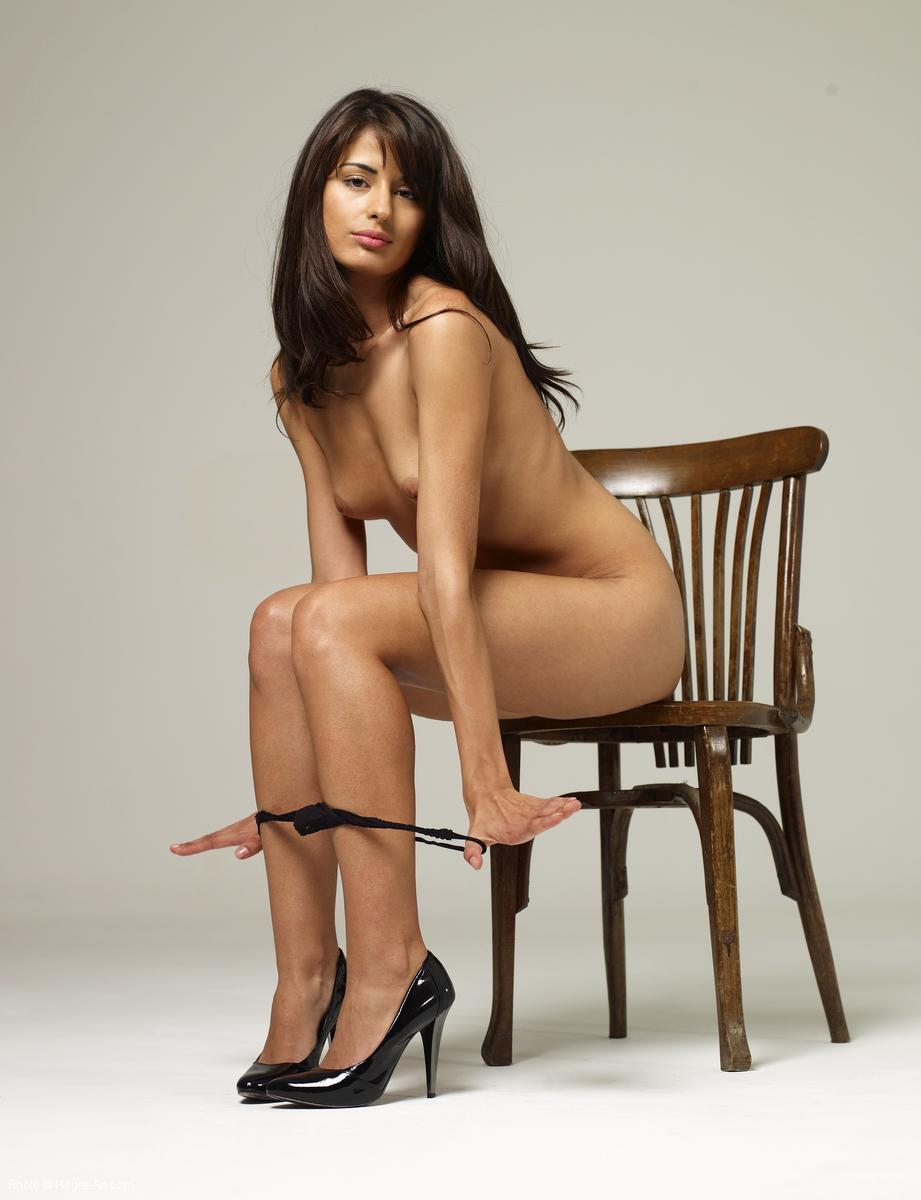 patricia naked on a chair