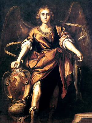 Imagen de San Rafael Arcangel con el Pez en su Mano Izquierda