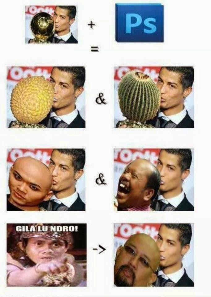 Meme Ronaldo yang lucu